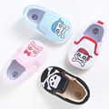 Unisex Newborn Baby Boys Girls Shoes Casual Slip On Printed Punk Style Soft Soled Prewalker Infant