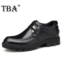 TBA 2016 Luxury Brand Men's Metal Design Business Dress Boots Shoes Genuine Leather Checker Board Wedding Oxfords With Gift Box(China (Mainland))