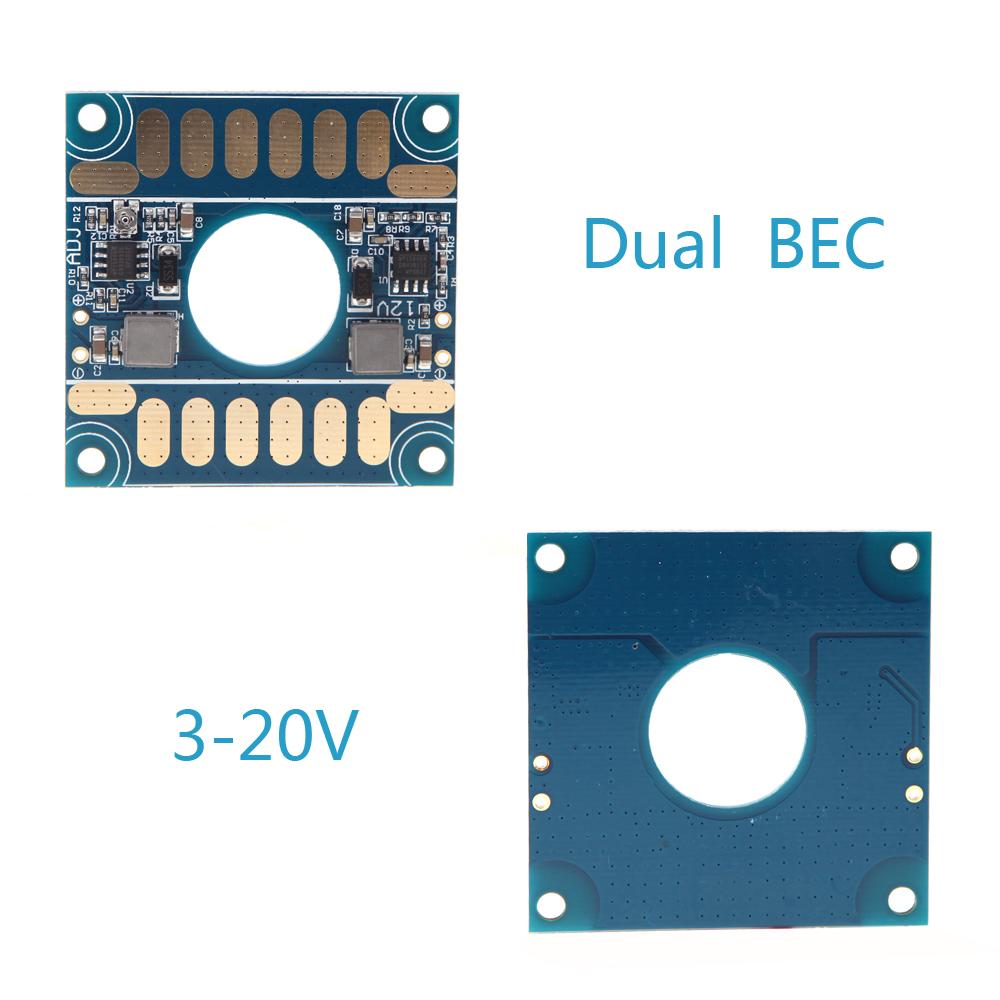 High Quality 5V 12V Adjustable Voltage Dual BEC Output Board ESC Distribution Connection Board for RC Quadcopter Plane(China (Mainland))