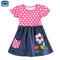 novatx H4725 girls dresses branded cartoon character children clothes casual summer kids girls dress baby frocks
