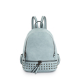 Fashion Nubuck Leather Backpack Rivet Ornament PU Daypack Preppy Style Zipper Bag Designer Solid Color Casual