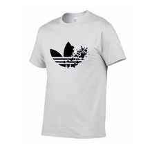 綿カジュアルロゴ印刷男性の Tシャツトップファッション半袖の Tシャツメンズ Tシャツシャツ男性の tシャツ 2019(China)