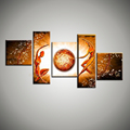 Large abstract modern naked nude art 5 piece canvas wall art hand painted oil painting for