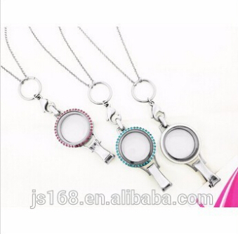 high quality 316 stainless steel lockets lanyard locket name badge clip(China (Mainland))