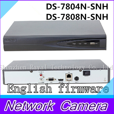 Фотография NVR 4CH/8CH 1080P/720P CCTV NVR English menu for IP Camera Support ONVIF DS-7804N-SNH/DS-7808N-SNH 1SATA