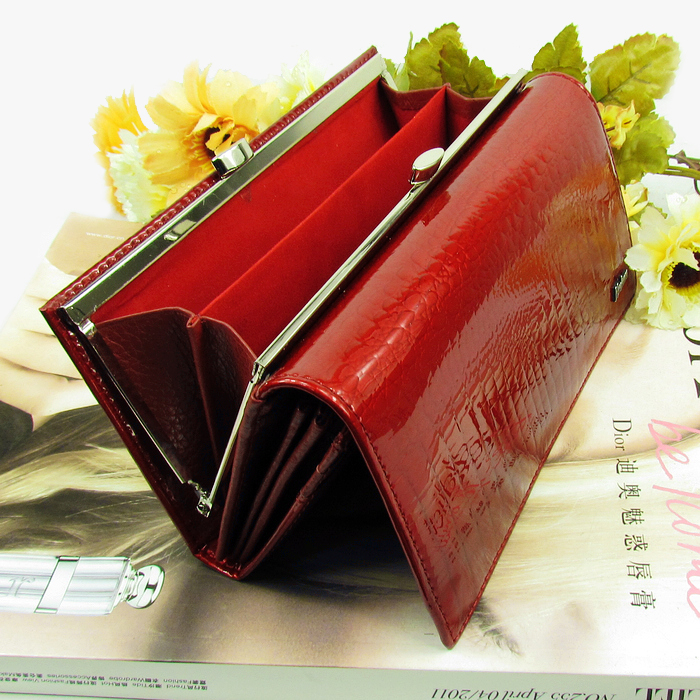 2015 fashion female wallet High-quality Leather Wallet Women Long Style Cowhide Purse wholesale and retail Free shipping