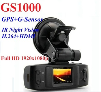 Car DVR GS1000 Recorder with GPS Logger + Ambarella + H.264 + Full HD 1920 * 1080P 30FPS + G-Senor the same as Original