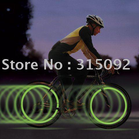 10 pc/lot Nite Ize Green LED SpokeLit Safely Light Bike Wheel Light New Free Shipping!!