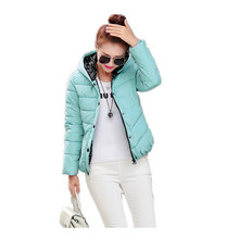 2016 New Womens Winter Jackets And Coats Slim Padded Outwear Chaquetas Mujer Camperas Mujer Abrigo Plaid Quilting Parkas Canada