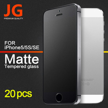 JG 20pcs/lot No Fingerprint Premium Tempered Glass Screen Protector For iphone 5 SE 5s 5C Frosted Glass Protective Matte Film