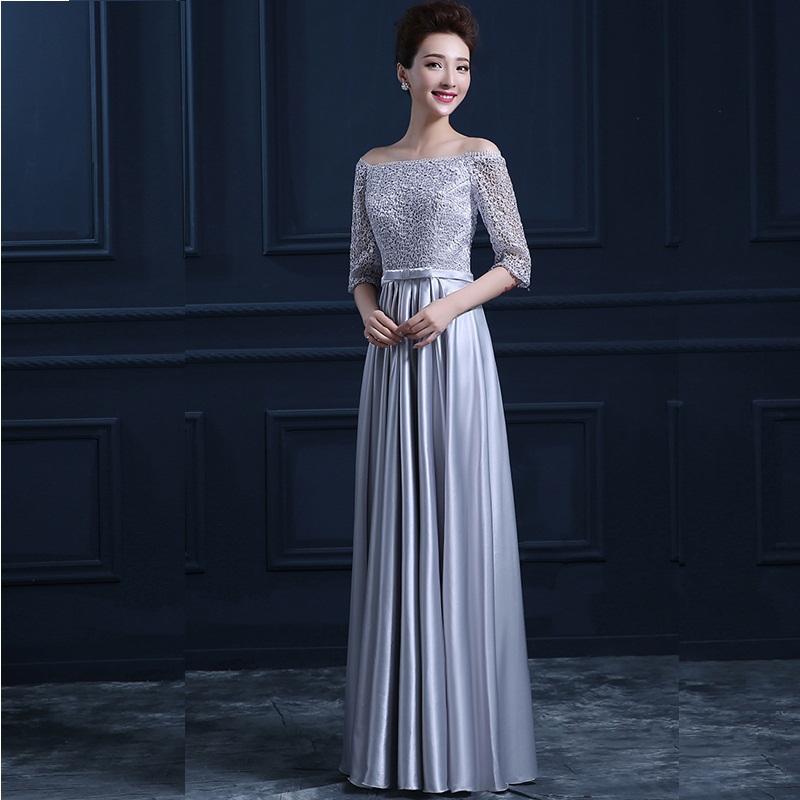 Gray Bridesmaid Dresses With Sleeves - Wedding Dress Ideas