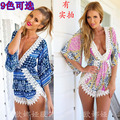 2016 Hot Sale Summer Rompers Womens Sexy Jumpsuit V Neck Bodysuit Casual White Lace Floral Elegant