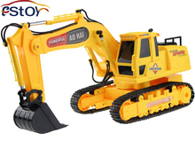 New RC Excavator 8 CH RC digger,r/c excavator,Dig Function with light remote control shovelloader Model electronic toy(China (Mainland))
