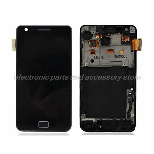 for Samsung Galaxy S2 i9100 LCD Screen with Touch Screen with Bezel frame Full Set with open tools,black and white