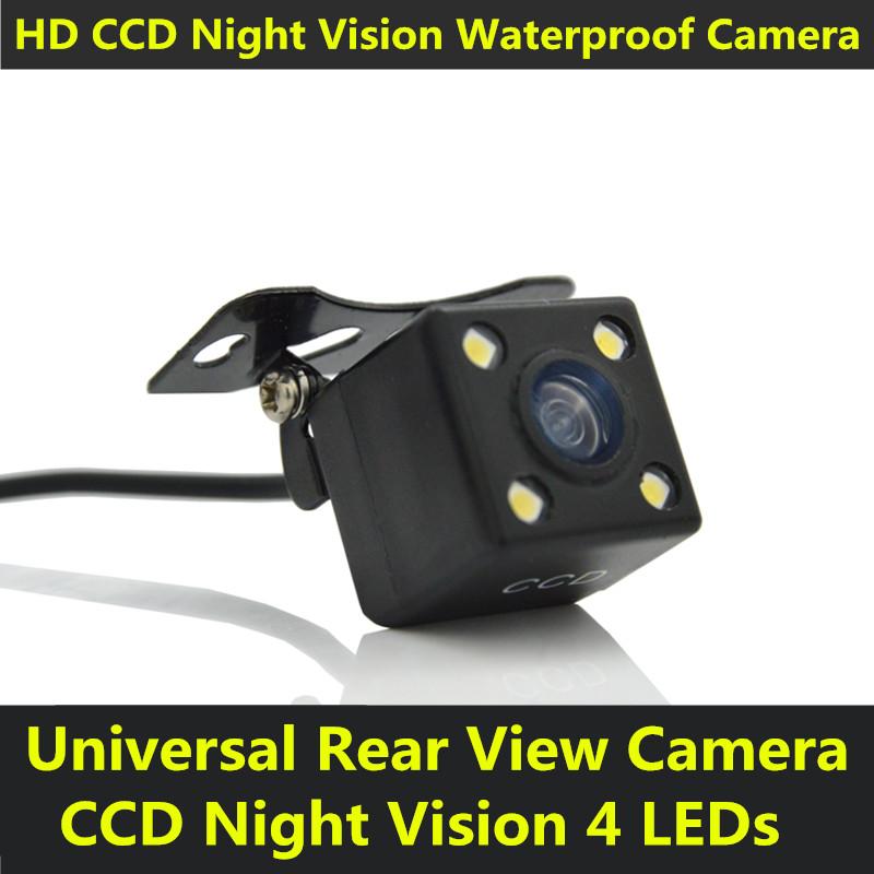 Universal CCD Car Auto Back Up Reverse Backup 4 LED Night Vision Rear View Camera Waterproof HD 170 Degree Parking Assistance(China (Mainland))