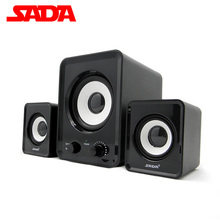 Sada D200A Laptop Altavoces Altavoz Desktop PC Computer Speakers Active Audio Mini Speaker 2.1 USB Subwoofer Altavoces Ordenador