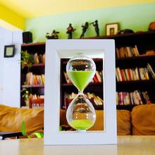 30 Minute sand Hourglass Countdown Timing 14.5*8*8cm Modern Wooden Sandglass Sand Clock Timer Home Decoration reloj de arena(China (Mainland))