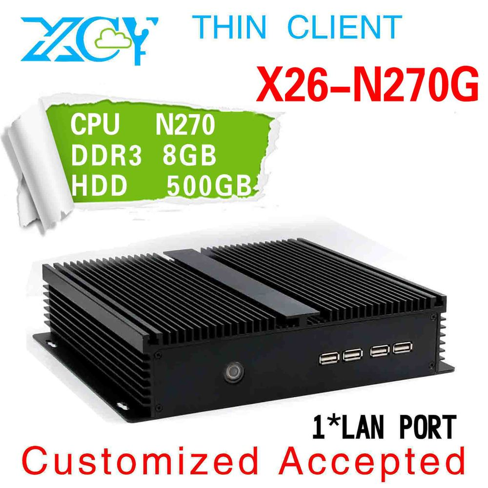 Promotion price mini pc Atom industrial pc can be surf on the Internet X26-N270G 8g ram 500g hdd 1080P slim factory computer pc(China (Mainland))