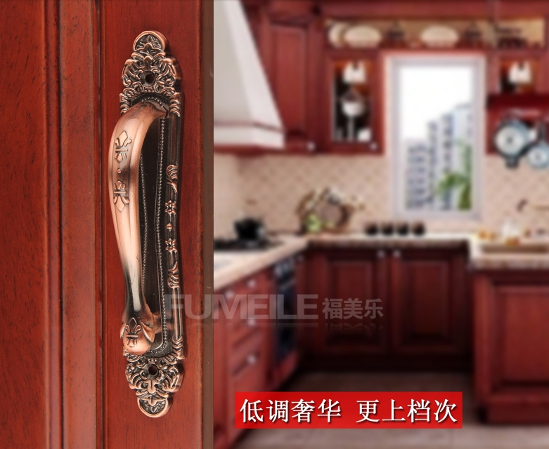 Wholesale Hardware accessories High quality Furniture handles Red copper Door handles Modern handles 248mm 2pcs/lot Free ship<br><br>Aliexpress