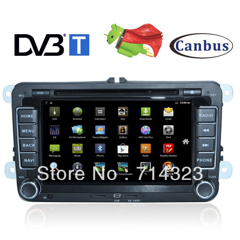 DVB-T Android In Dash Car Radio GPS DVD Player VW Passat Golf 5 6 TiguanTOURAN EOS TRANSPORTER (T5)CADDY 3G,WIFI,Bluetooth,PIP(China (Mainland))