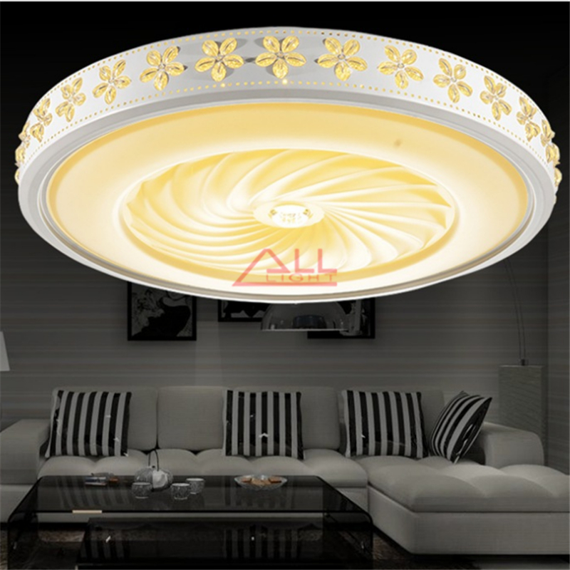 Modern minimalist LED Ceiling lamp Romantic cherry ceiling light Round Indoor Ceiling Dimmer 36W 45W 72W 110-240V Free Shipping(China (Mainland))