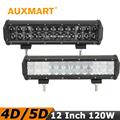 Auxmart CREE Chips 12 120W 4D 5D LED Light Bar Combo Beam Car Light Bar Offroad