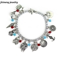 Free Shipping 1 pc a Lot STAR WARS Charm Bracelet Vintage Alloy Jewelry For Fans Collection