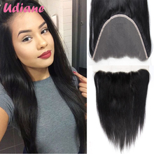 Brazilian Straight Lace Frontal Closure With Baby Hair Bleached Knots 13×6 Virgin Human Hair Full Lace Frontal Hair 8SA02Z