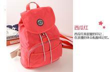 New 2015 Women Backpack Waterproof Nylon 10 Colors Lady Women's Backpacks Female Casual  Sport Travel bag Bags mochila feminina(China (Mainland))
