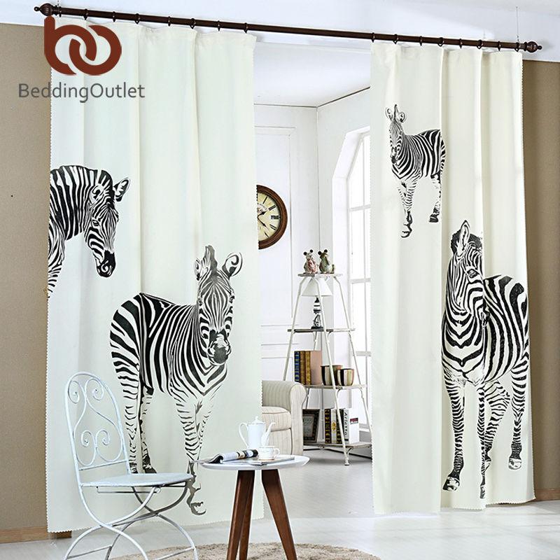 zebra wohnzimmer:BeddingOutlet Fenster Vorhang Für Wohnzimmer Zebra Schlafzimmer 3D
