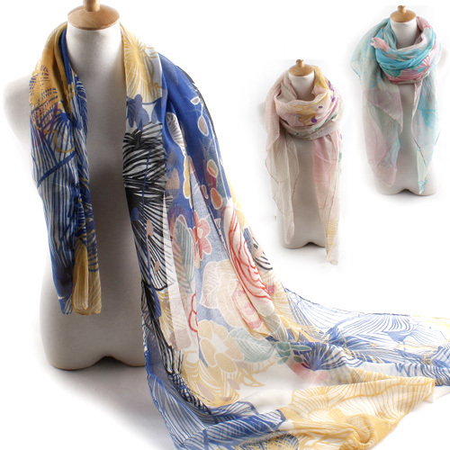 2015 New Fashion Women's Spain Wrap Scarfs Paris Voile Lady Girls Floral Print Brand Scarves Shawl Autumn Winter Scarf - Shenzhen Sundah Tech Co., Ltd.(Craft & Gift Dept. store)