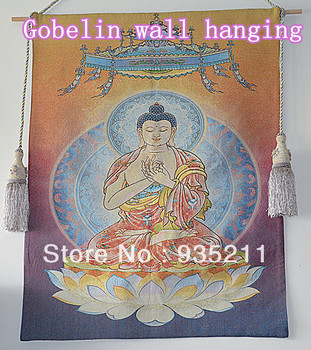 High quality Religion Buddhism Gobelin tapestry fabric wall hangings