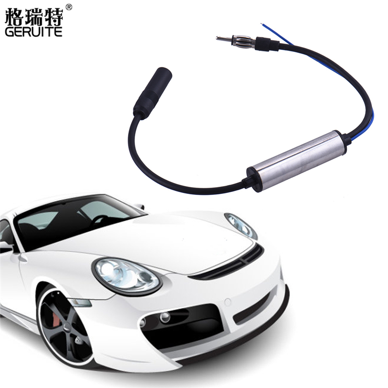 Car Radio Antenna FM Signal Amplifier inline Booster DVD player Aerial 1 Pieces(China (Mainland))