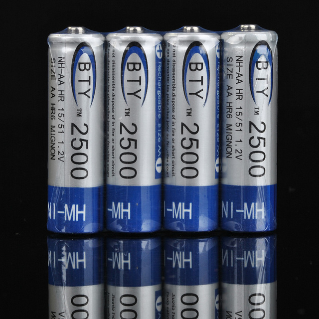 Freeshipping 24 pcs / Pack AA Ni-MH Rechargeable Battery Pack 2500mAh 1.2V Video Game Controller Xbox PS3