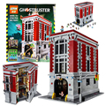 Ghostbusters Firehouse Headquarters LEPIN 16001 Model House Building Kits Model Set Minifigure Compatible With 4695Pcs
