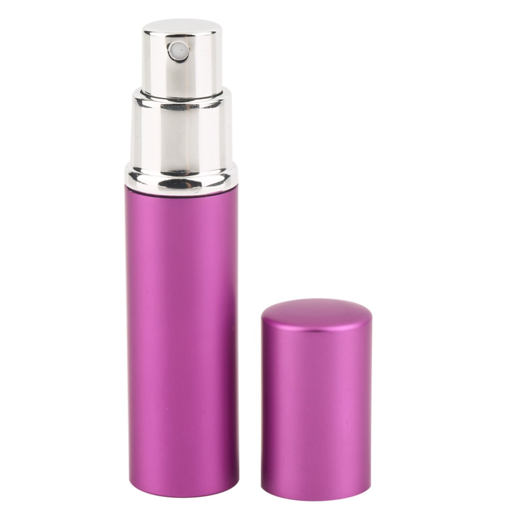 High Quality Durable Smooth Surface Aluminum Metal Refillable Atomizer Empty Perfume Bottle Lady Gift 5ml(China (Mainland))