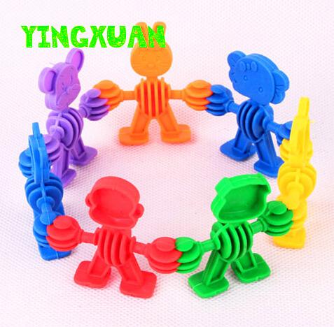 40pcs/pack Kids Plastic animals Blocks Educational Building Sets Creativity Toys for Kindergarten Baby(China (Mainland))