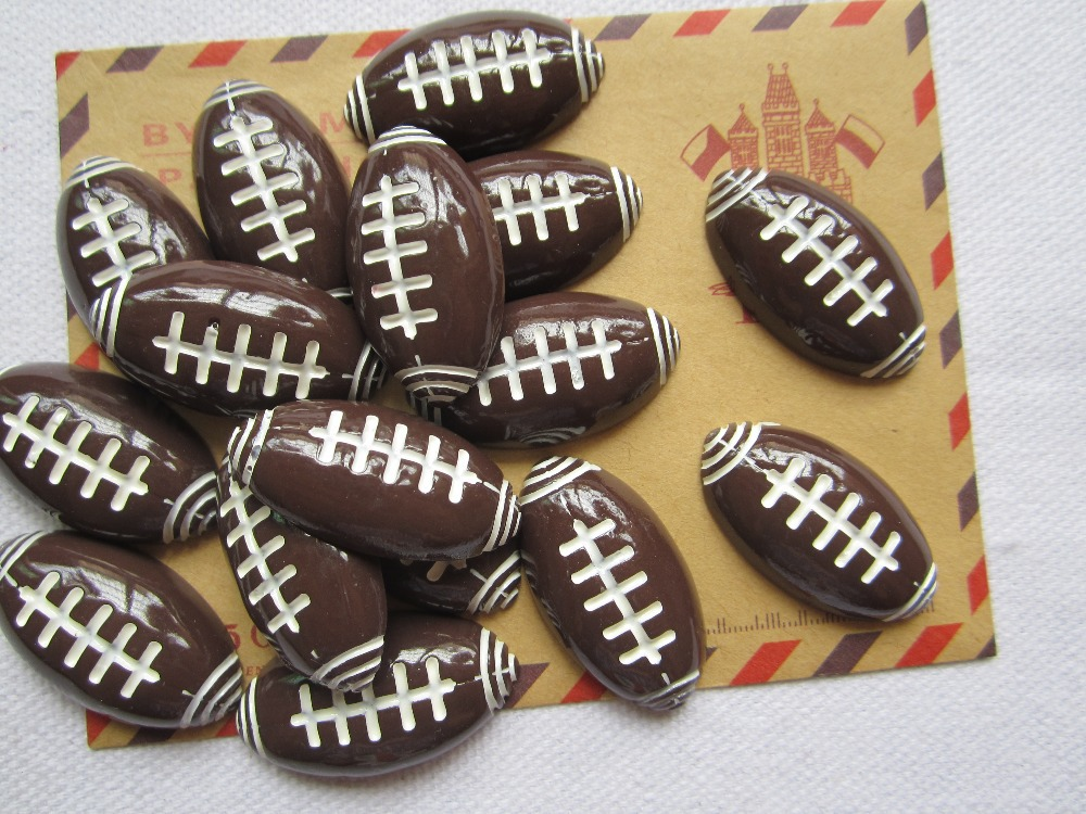 Rena!! Min.order $6 (mix order), Football Rugby,Flat Back Cabochons for Scrapbooking, Hair Bow Center, DIY Free Shipping(China (Mainland))