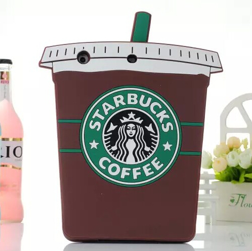 Protective Shell Skin Apple iPad Mini 1 2 7.9 Inch Soft Silicone Rubber 3D Coffee Cup Starbucks Case Cover 3 4 - Beauty Mobile store