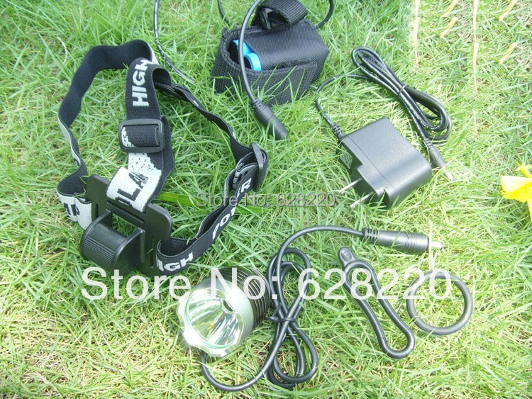 T6 Bicycle Light HeadLight CREE XM-L LED 1800 Lumens 3 Mode Bike Front HeadLamp 8.4v Battery Pack & Charger - your us store