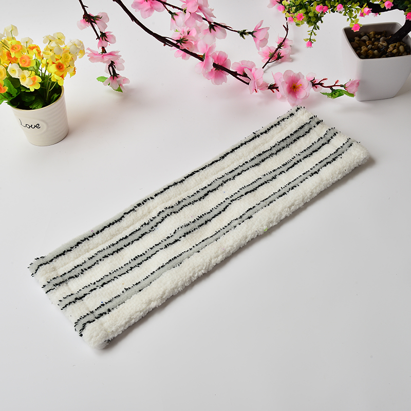 Grey And White Stripes Microfiber Cleaning Mop Cloth ,Flat Mop Head For Home Cleaning(China (Mainland))