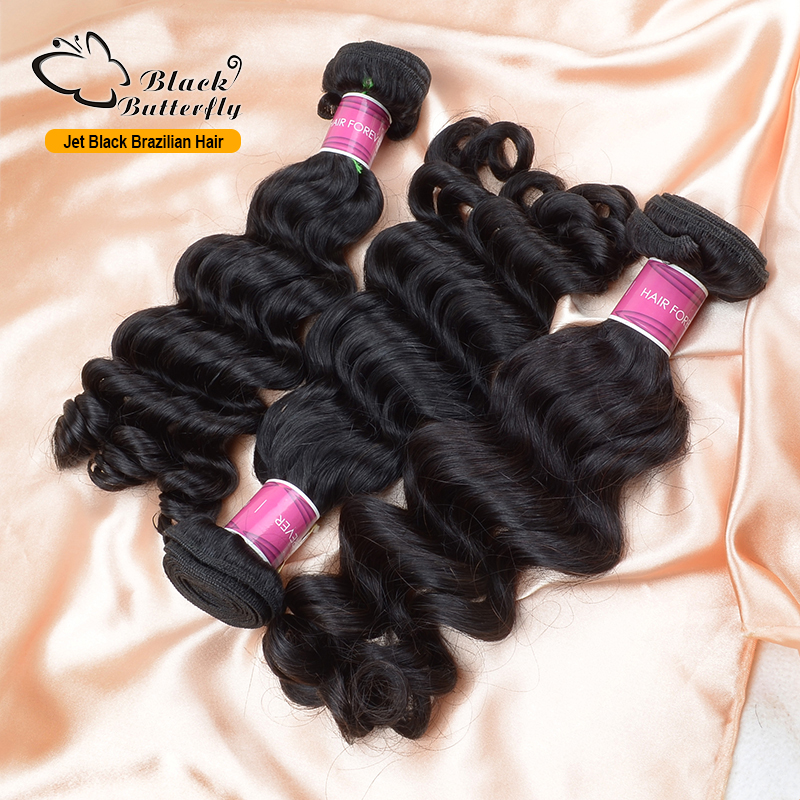 Raw Brazilian deep wave human hair weave Thick Heathy ends brazilian virgin - BlackButterfly store