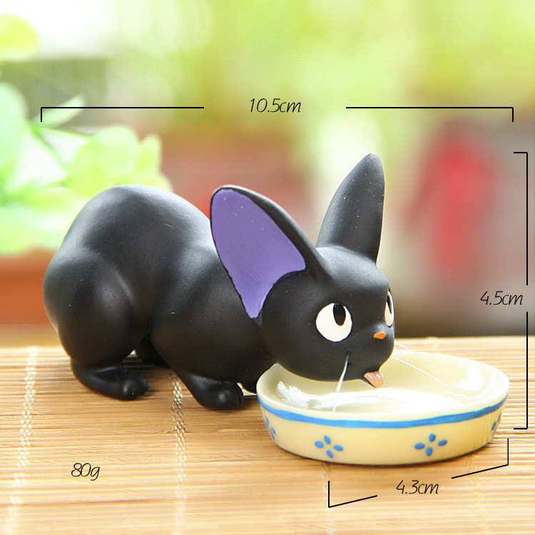 Hayao Miyazaki Anime KiKis Delivery Service Resin Figure Model Toys Home Office Ornament Paper Clips Storage Gift Juguetes(China (Mainland))