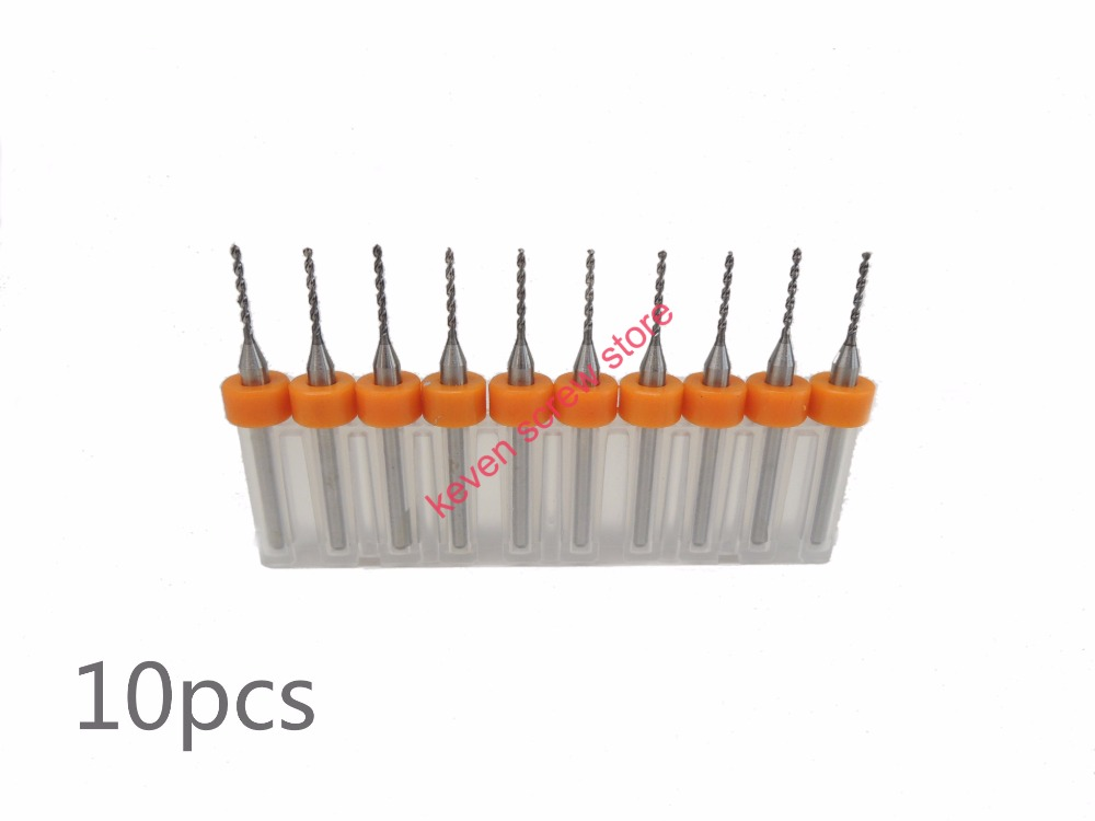 Freeshipping 10pcs Set 0 9mm High Quality Hard Alloy PCB Print Circuit Board Carbide Micro Drill