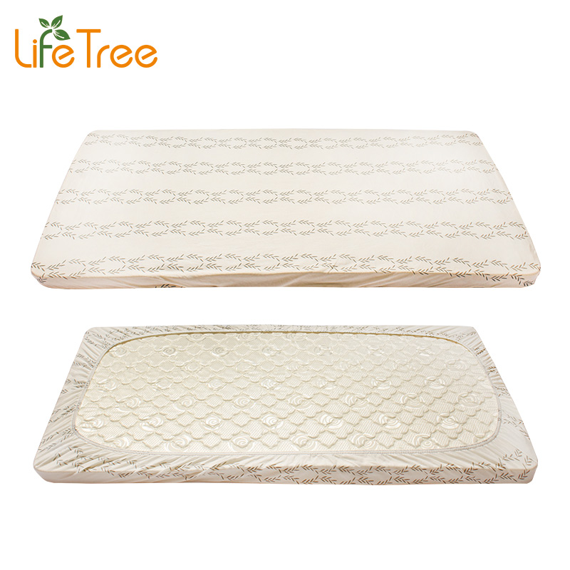 LifeTree 2 Pcs Set Baby Crib Fitted Sheet Cotton Jersey Cot Bed Sheets Newborn Bedding Soft Mattress Cover Protector