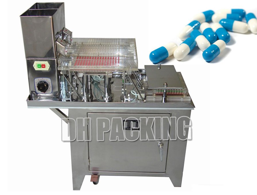 Semiautomatic Capsule Filling Machine,380V 220V 50HZ,Production :1-2000/ h - DHPACKAGING(Find Your Solution Today store,Scober)