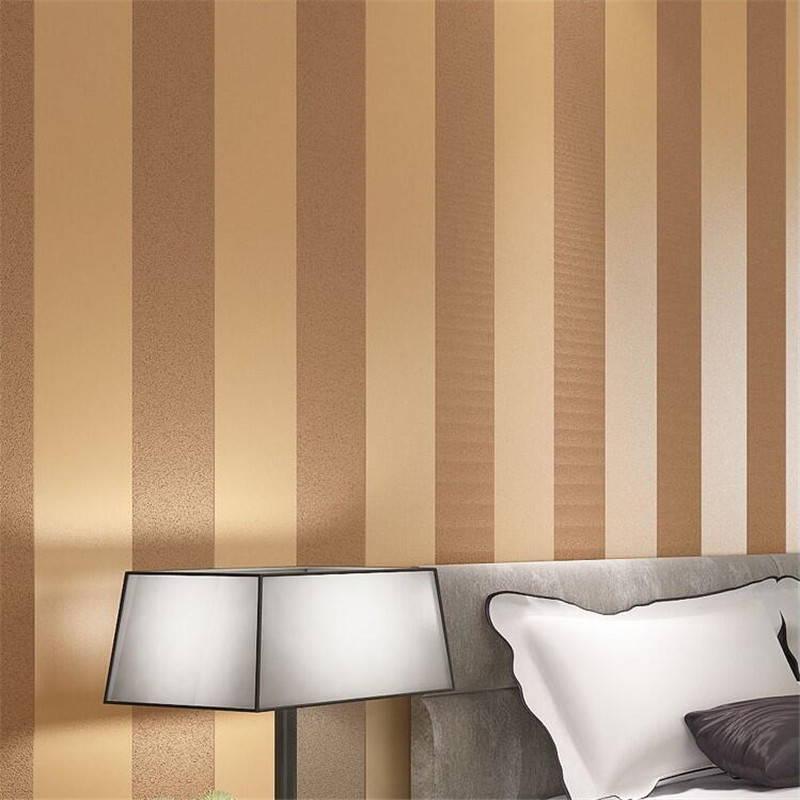 Papel de parede vertical stripes woven wallpaper modern for Minimalist living bedroom