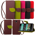 Flip Leaf Shape Leather Cases for Alcatel One Touch Pixi 3 4 0 High Quality Wallet