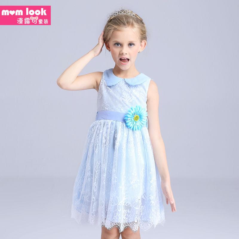 The girl's dress2016 new summer exclusive children original girls dress cotton sleeveless Chiffon Girls(China (Mainland))