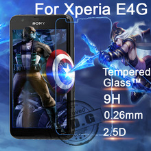 0.3mm 9H Explosion Proof Anti scratch Tempered Glass Film For Sony Xperia E4G E2003 Screen Protector Film + cloth